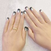 trendy and pretty french nails