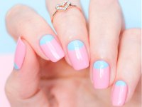 reverse french manicure nails cool reverse french manicure ...