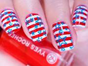 charming 4th of july nails