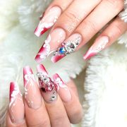 summery french tip nail design
