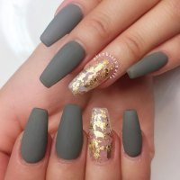 21 Coffin Style Nails To Win The Day | NailDesignsJournal.com