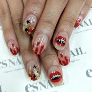 scary halloween nails design