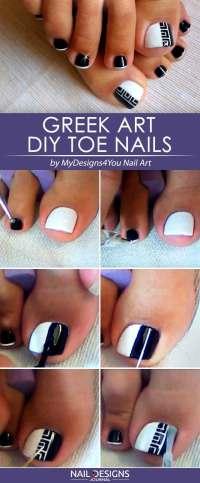 Simple Diy Toe Nail Designs   NailDesignsJournal.com