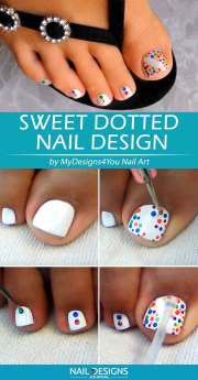 simple diy toe nail design