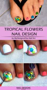 simple diy toe nail design