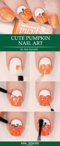 25 Easy Halloween Nails Tutorials | NailDesignsJournal.com