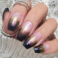 Black Ombr Glitter Nails Nails t Glitter nails Black and