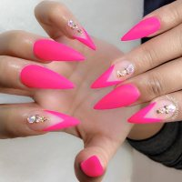 21 Outstanding Matte Pink Nails Designs | NailDesignsJournal