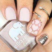 outstanding matte pink nails