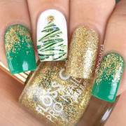 lovely holiday nails design