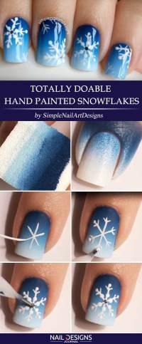 Easy Tutorials On Snowflake Nails Art | NailDesignsJournal