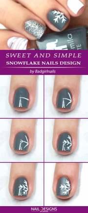 easy tutorials snowflake nails