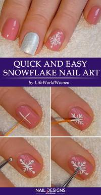 Easy Snowflake Nail Art Tutorial