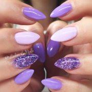 trendy purple nails