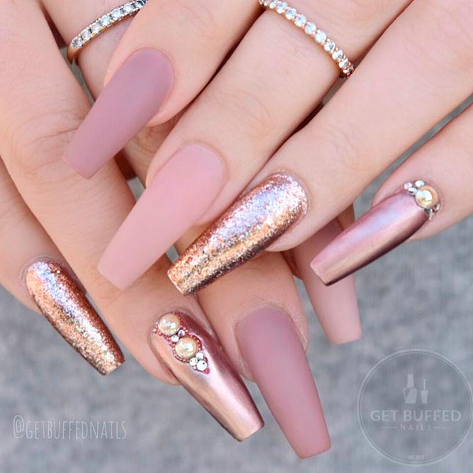 27 Prettiest Rose Gold Nails Designs You Should Try Out - crazyforus