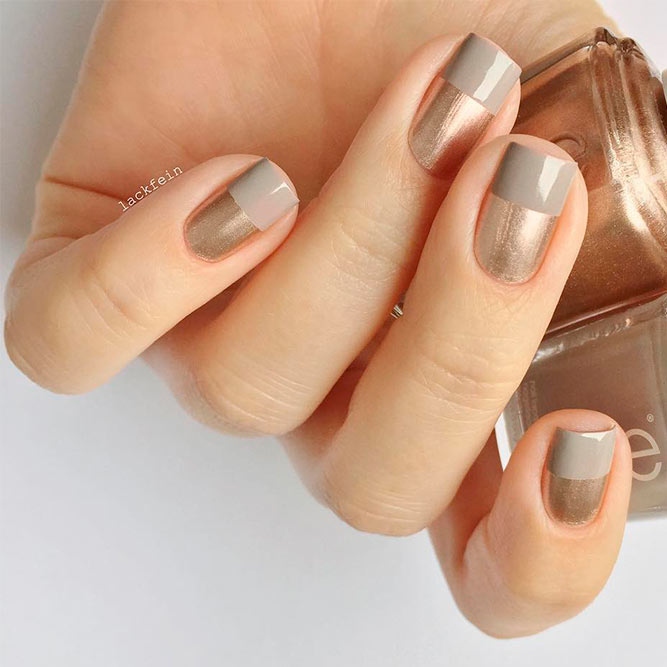 Stylish Ideas For Rose Gold Nail Designs picture 2