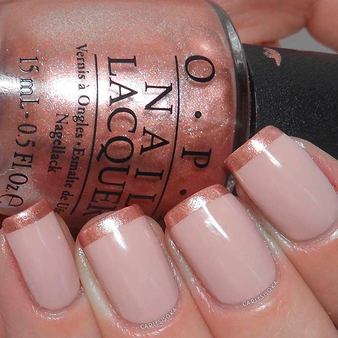 Rose Gold French Tips picture 1