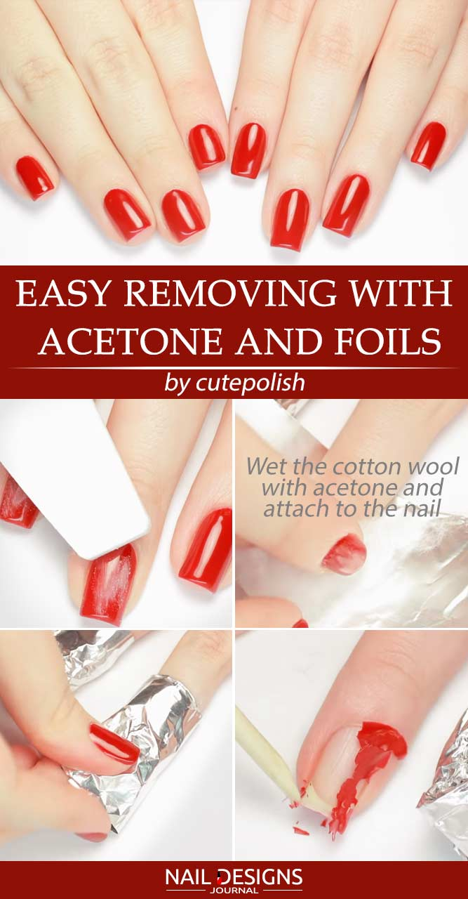 How To Remove Gel Nail Polish With Acetone And Foils