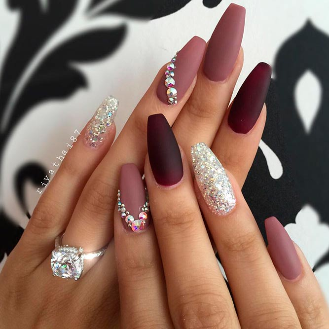 Nail Designs With Rhinestones And Glitter