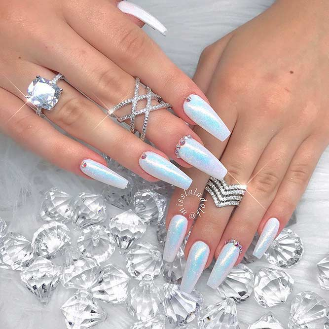 Simple Nail Art With Stones