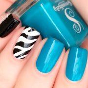 exquisite teal color nails ideas