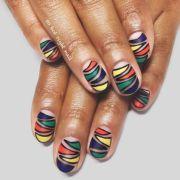 cute and wild zebra print nails