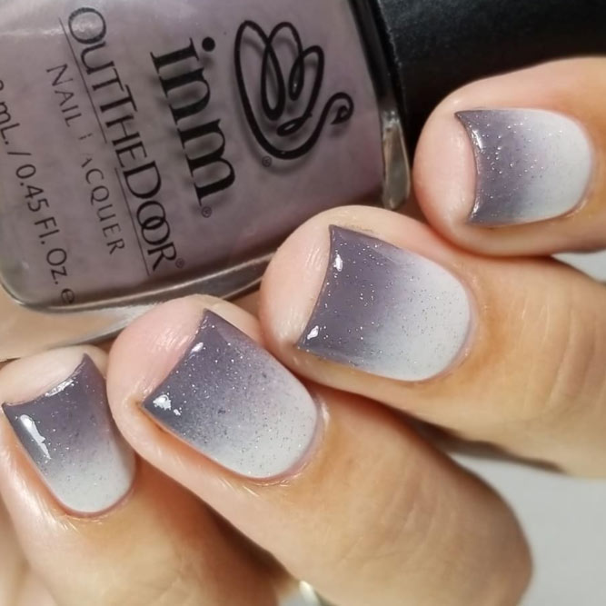 Taupe Fade For Anicure #ombrenails #shortnails