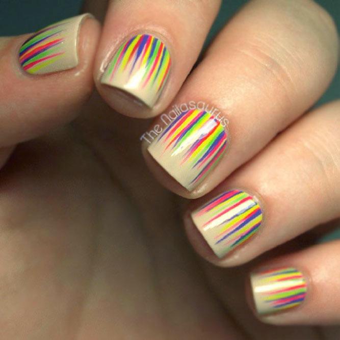 Rainbow Waterfall Nails