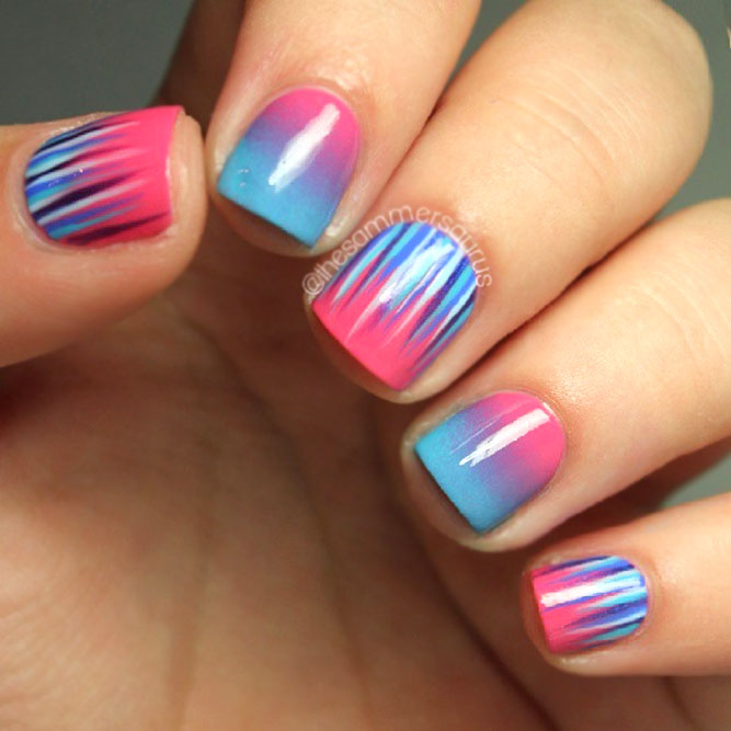 Pink & Blue Ombre
