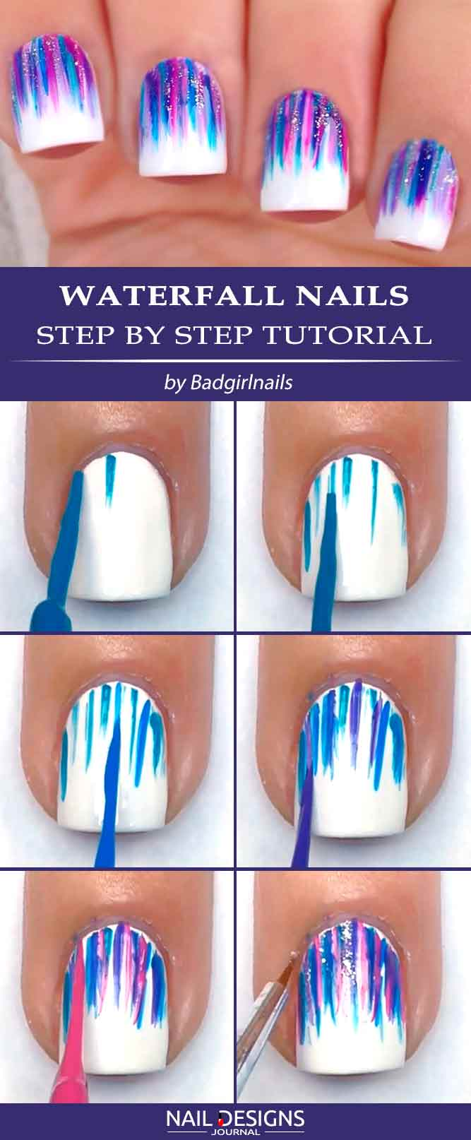 Waterfall Nails Step By Step Tutorial