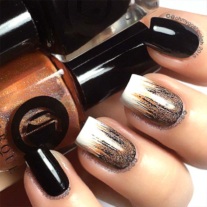 Ombre Waterfall Nails Accent