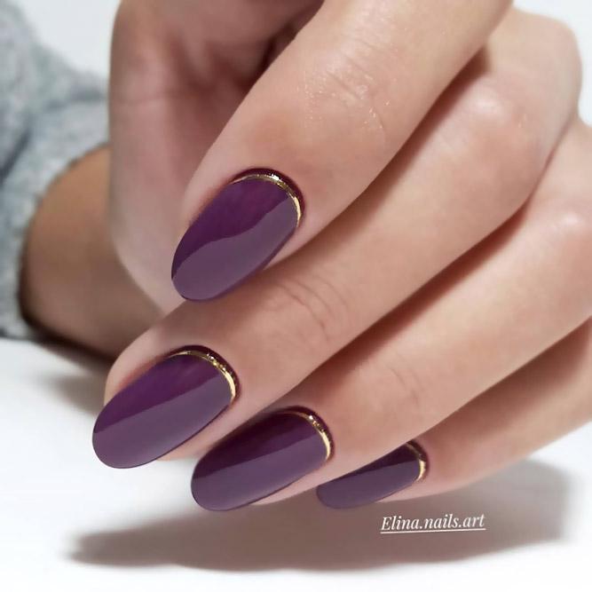 Reverse Half-Moon Shellac Nails