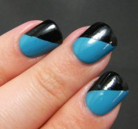 Dark Blue Nail Tip Designs | www.imgkid.com - The Image ...