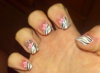 Zebra Nail Tips | Nail Designs Mag