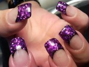 french nail tips design