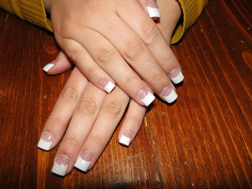 Wide And White Nail Green Black Cute Designs Tips