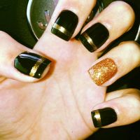 Simple Black and Gold Nail Designs You Can Do Yourself ...