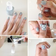 simple flower nail