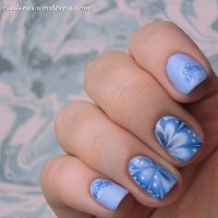 Blue Butterfly Watermarble
