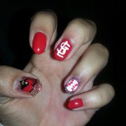 stl cardinals baseball nails