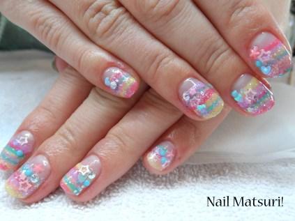 My short Fairy Kei nails