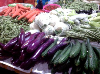 Vegetable Stall in Kaili