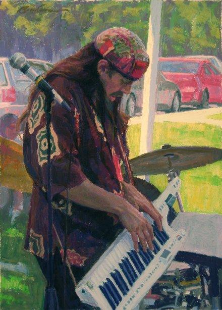 "Clayton Buchanan's Painting ""Street Noise"""