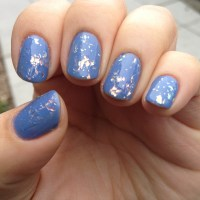 China Glaze Luxe and Lush over Secret Periwinkle