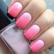 pink ombr nail art noemihk