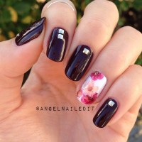 Studs and dried flowers nail art by Angel Son - Nailpolis ...