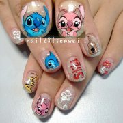 stitch nail art weiwei - nailpolis