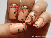 bicycle & roses nail art pauline