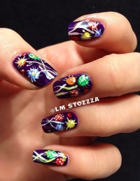 Purple summer nail art by Louise - Nailpolis: Museum of ...