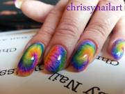 colorful tie dye nail art chrissy